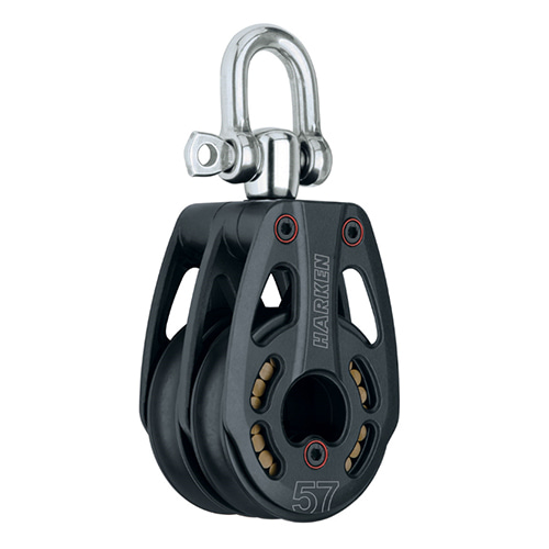 57 mm Aluminum Low-Load Double Block — Swivel (No.3228) Harken